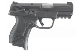 "Ruger 8639 American Double 9mm 3.5"" 17+1/12+1 Black Grip Black Nitride Stainless Steel"