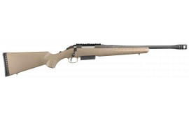 "Ruger 16950 American Ranch Bolt .450 Bushmaster 16.12"" 3+1 Synthetic Flat Dark Earth Stock Black"