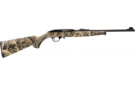 "Mossberg International 37022 702 Plinkster Duck Commander Semi-Auto 18"" 10+1 Synthetic Realtree Max-5 Stock Blued"