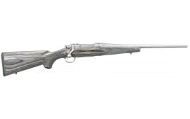 "Ruger 17110 Hawkeye Laminate Compact Bolt 308 Win/7.62 NATO 16.5"" 4+1 Laminate Gray Stock Stainless Steel"