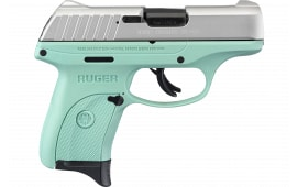 Ruger 13200 EC9s AS7rdSilver Slide Turquoise Frame