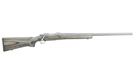 "Ruger 17979 Hawkeye Varmint Target Bolt 308 Win/7.62 NATO 26"" 4+1 Laminate Gray Stock Stainless Steel"
