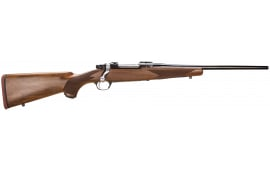 "Ruger 37140 Hawkeye Compact Bolt 7mm-08 Rem 16.5"" 4+1 American Walnut Stock Blued"