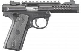 """Ruger 43906 Mark IV Double .22 LR 4.4"""" 10+1 Black Polymer Grip Black"""