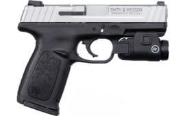 "Smith & Wesson 13047 SD40VE 4"" FS 10-SH Silver SS SLIDE/BLACK Bundle"