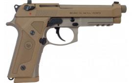 Beretta JS92M9A3GNT M9A3 Nonthrd FDE 10rd NY/NJ