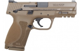 Smith & Wesson 12459 M&P9 M2.0 Compact FS15rdw/THUMB Safety POL FDE