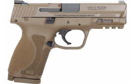 Smith & Wesson 12458 M&P9 M2.0 Compact FS15rdArmornite FDE Poly