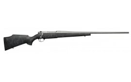 "Weatherby MWMS270WR6O Mark V Weathermark Bolt .270 Weatherby Magnum 26"" 3+1 Synthetic Black w/Gray Spiderweb Stock Gray Cerakote"