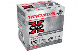 "Winchester Ammo X204 Super-X High Brass 20GA 2.75"" 1oz #4 Shot - 25sh Box"