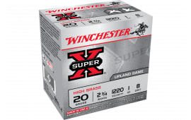 "Winchester Ammo X208 Super-X High Brass 20GA 2.75"" 1oz #8 Shot - 25sh Box"
