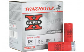 "Winchester Ammo XU128 Super-X Game Load 12GA 2.75"" 1oz #8 Shot - 25 Shells/Box - 250 Count Case"