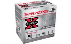 "Winchester Ammo XU168 Super-X Game Load 16GA 2.75"" 1oz #8 Shot - 25sh Box"