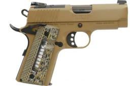 MKE Firearms 390037 MC1911SC Ultimate Officer ADJ. SGT. FDE