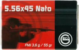 278140050 Geco FMJ 55 GR 5.56X45MM - 50rd Box