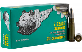 Brown Bear ASUB762FMJ 762X39 196G FMJ SUB - 20rd Box