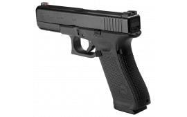 """Glock PA1750303AB G17 Gen 5 Double 9mm 4.48"""" 17+1 AmeriGlo Green with Orange Outline/Green Rear Night Black Interchangeable Backstrap Grip Black"""