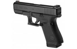 """Glock PA1950301AB G19 Gen 5 Double 9mm 4.01"""" 10+1 AmeriGlo Green with Orange Outline/Green Rear Night Black Interchangeable Backstrap Grip Black"""