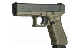 "Glock PG1757201 G17 Double 9mm 4.48"" 10+1 OD Green Grip Black"