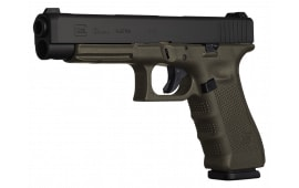 "Glock PG3437103 G34 Double 9mm 5.3"" 17+1 OD Green Grip Black"