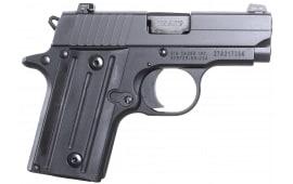 "Sig Sauer 238M380BSS P238 *MA Compliant* SA 380 ACP 2.7"" 6+1 Black Poly Grip Black"