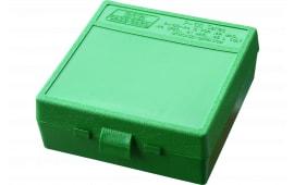 "MTM P1004410 P-100 Flip-Top Pistol Ammo Box 1.85"" OAL Green Poly"