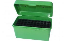 MTM H50RL10 H-50 50rd Lg Rifle Ammo Box w Handle Poly Green