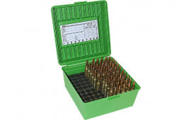 MTM R100MAG10 Rifle Ammo Deluxe R-100 Magnum 100rd Polypropylene Green