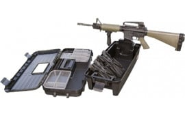 MTM TRB40 Tactical Range Box with Gun Forks Polypropylene Black