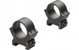 """Leupold 174081 PRW2 Ring Set 1"""" Diam Medium Steel Black"""
