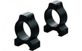 """Leupold 55850 Rifleman Ring Set 1"""" Dia Medium Black Matte"""