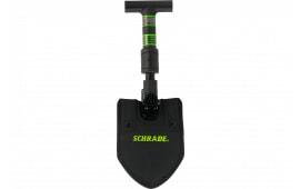 Schrade SCHSH1 Telescoping Shovel with Sheath 1055 Carbon Steel Black