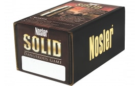 Nosler 23654 Solid Dangerous Game 416 Caliber .416 400 GR 25 Per Box
