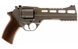 "Chiappa CF340.249 Rhino 60SAR *CA Compliant* Single .357 6"" 6rd Walnut Chrome Stainless Steel Revolver"