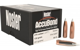 Nosler 54987 AccuBond .277 130 GR 270 Caliber 50 Per Box