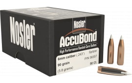 Nosler 56357 AccuBond .243 90 GR 6mm 50 Per Box