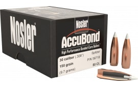 Nosler 56719 AccuBond .308 150 GR 30 Caliber 50 Per Box