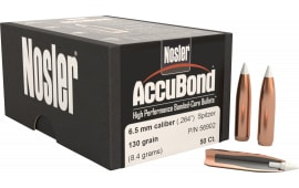 Nosler 56902 AccuBond .264 130 GR 6.5mm 50 Per Box