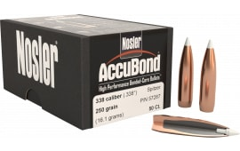 Nosler 57287 AccuBond .338 250 GR 338 Caliber 50 Per Box
