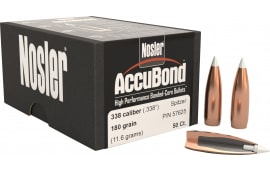 Nosler 57625 AccuBond .338 180 GR 338 Caliber 50 Per Box
