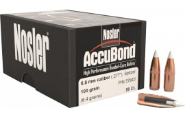 Nosler 57845 AccuBond .277 100 GR 6.8mm w/Cannelure 50 Per Box