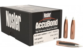 Nosler 57873 AccuBond .264 140 GR 6.5mm 50 Per Box