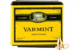 Speer Bullets 4399 Handgun Plinking 40 Caliber .400 155 GR Encased Core Full Jacket Flat Nose 100 Box