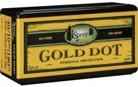 Speer 4406 Handgun 40 Caliber .400 180 GR Gold Dot Hollow Point 100 Box