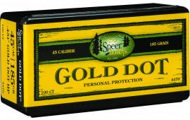 Speer 4470 Handgun 45 Caliber .451 185 GR Gold Dot Hollow Point 100 Box