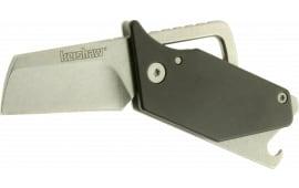 "Kershaw 4036BLKX Pub Multi-Purpose Tool 1.6"" 8C13MoV Steel Modified Sheepsfoot Anodized Aluminum Front, Steel Back"