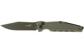 "Kershaw 7900GRYBLK Launch Knife 3.75"" CPM154 Steel Clip Point Anodized Aluminum"