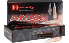 Hornady 305026 Rifle 30 Caliber .308 168 GR A-Max 250 Box