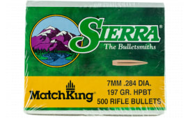 Sierra 1997C MatchKing 7.62mm .284 197 GR Hollow Point Boat Tail 500 Box