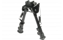 "UTG TL-BP78 Tactical Bipod with Rubber Feet Black Aluminum 6.1-7.9"""